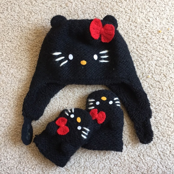 Hello Kitty Accessories Hat With Matching Mittens Poshmark